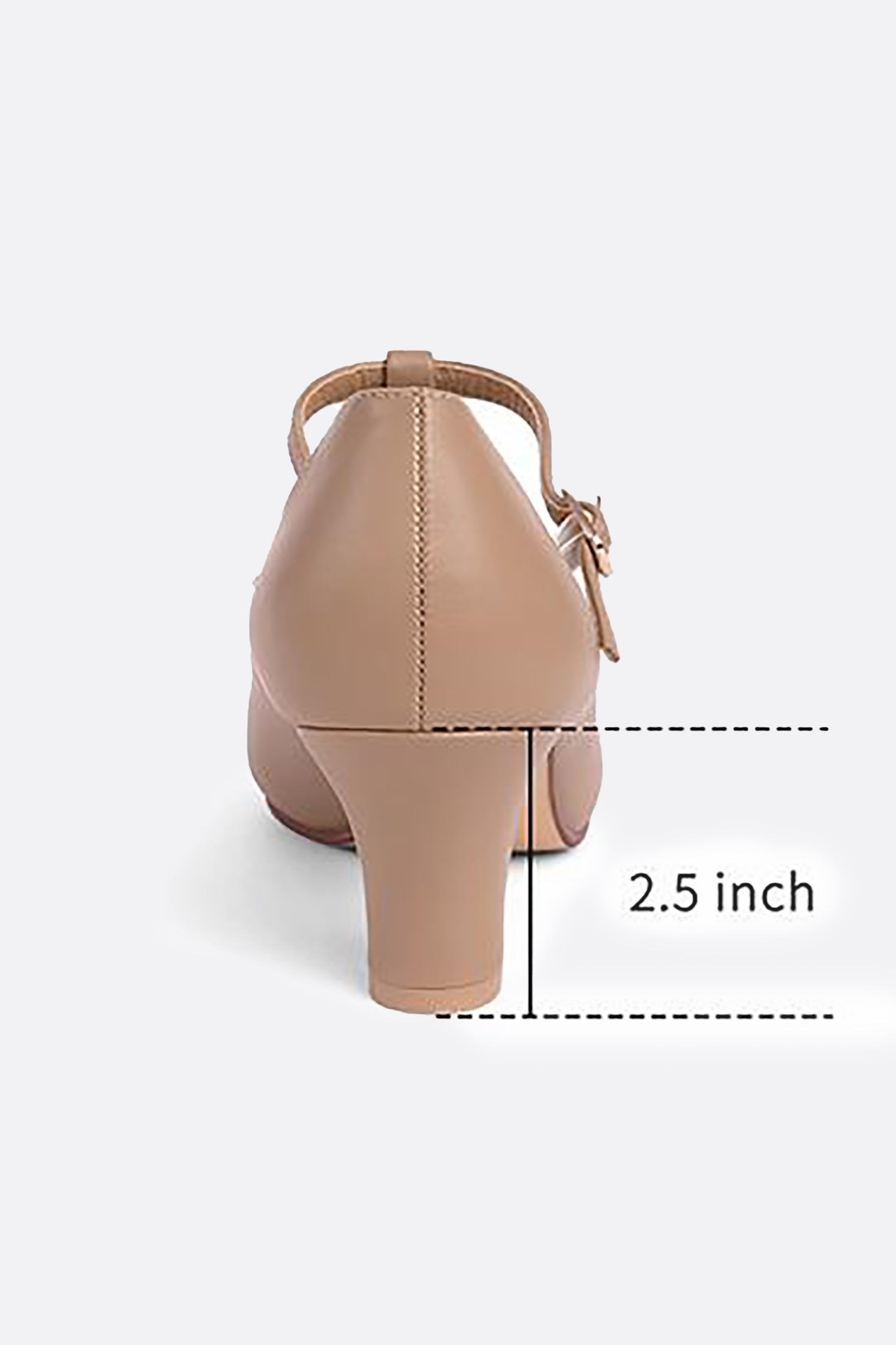 Women's 2.5'' T Strap Character Dance Shoes