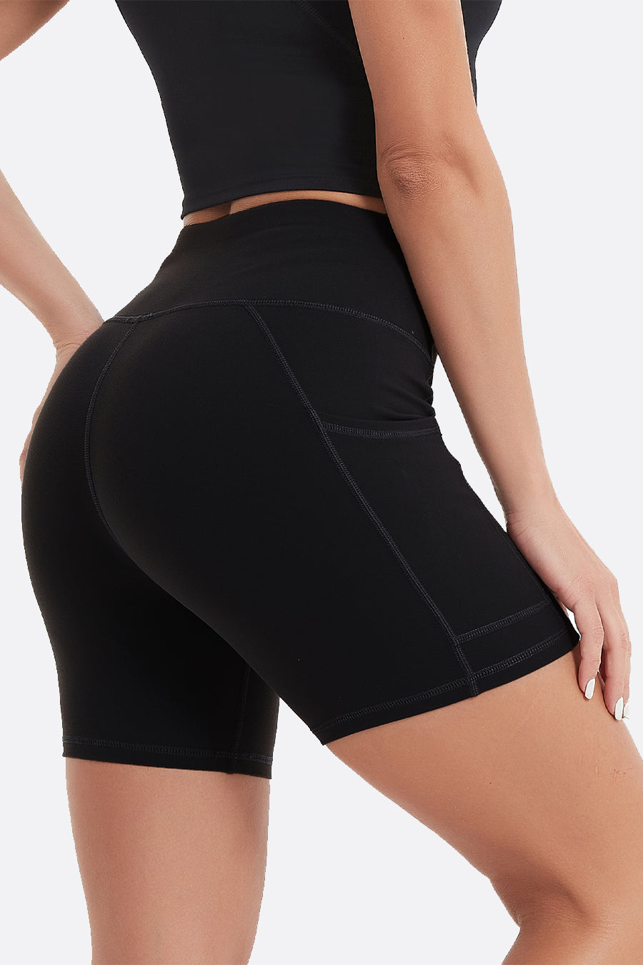 Women's Essential High Waisted Yoga Shorts 5""