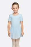 Girl's Short Sleeve Dress Leotard