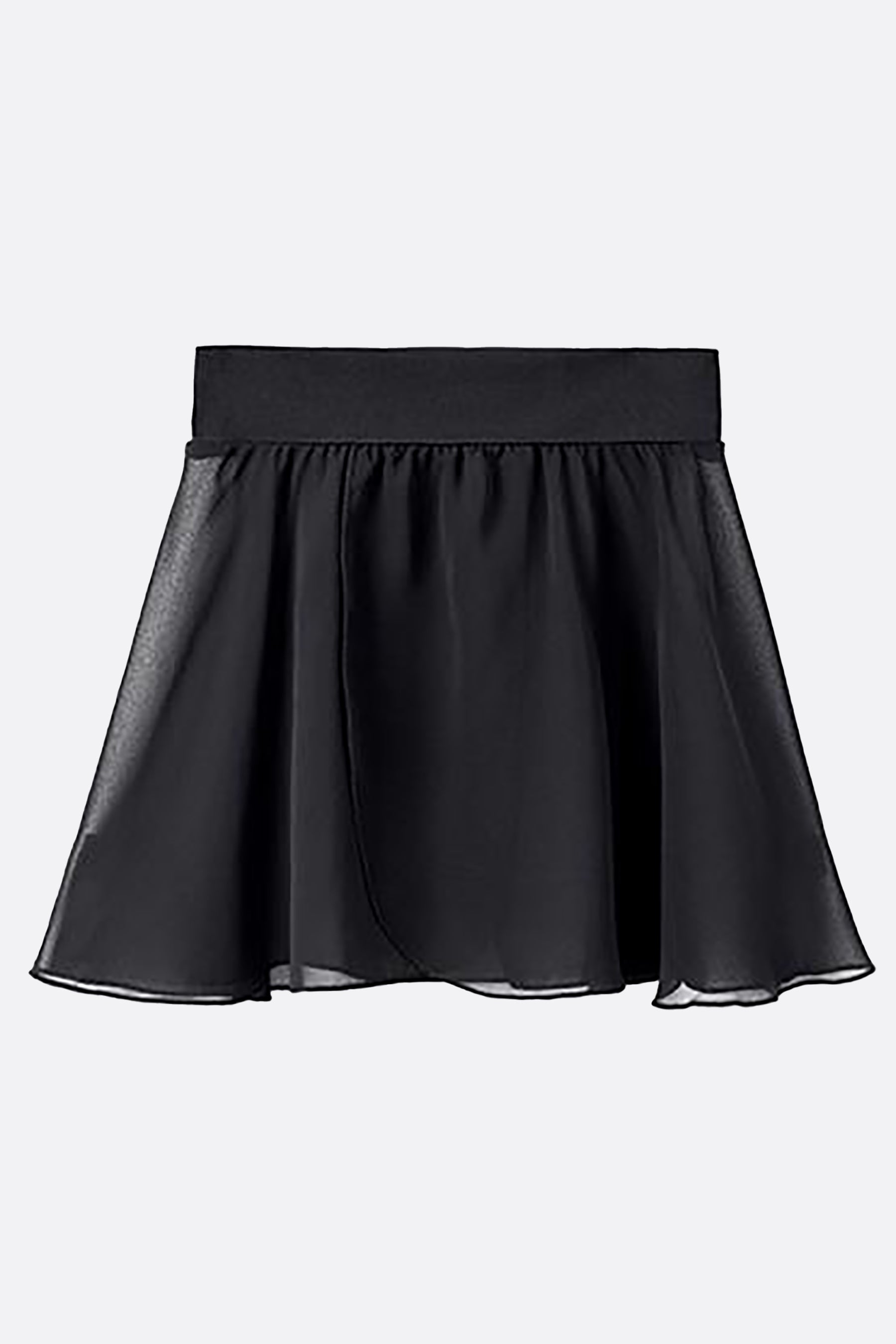 Women's Chiffon Pull-On Wrap Skirt