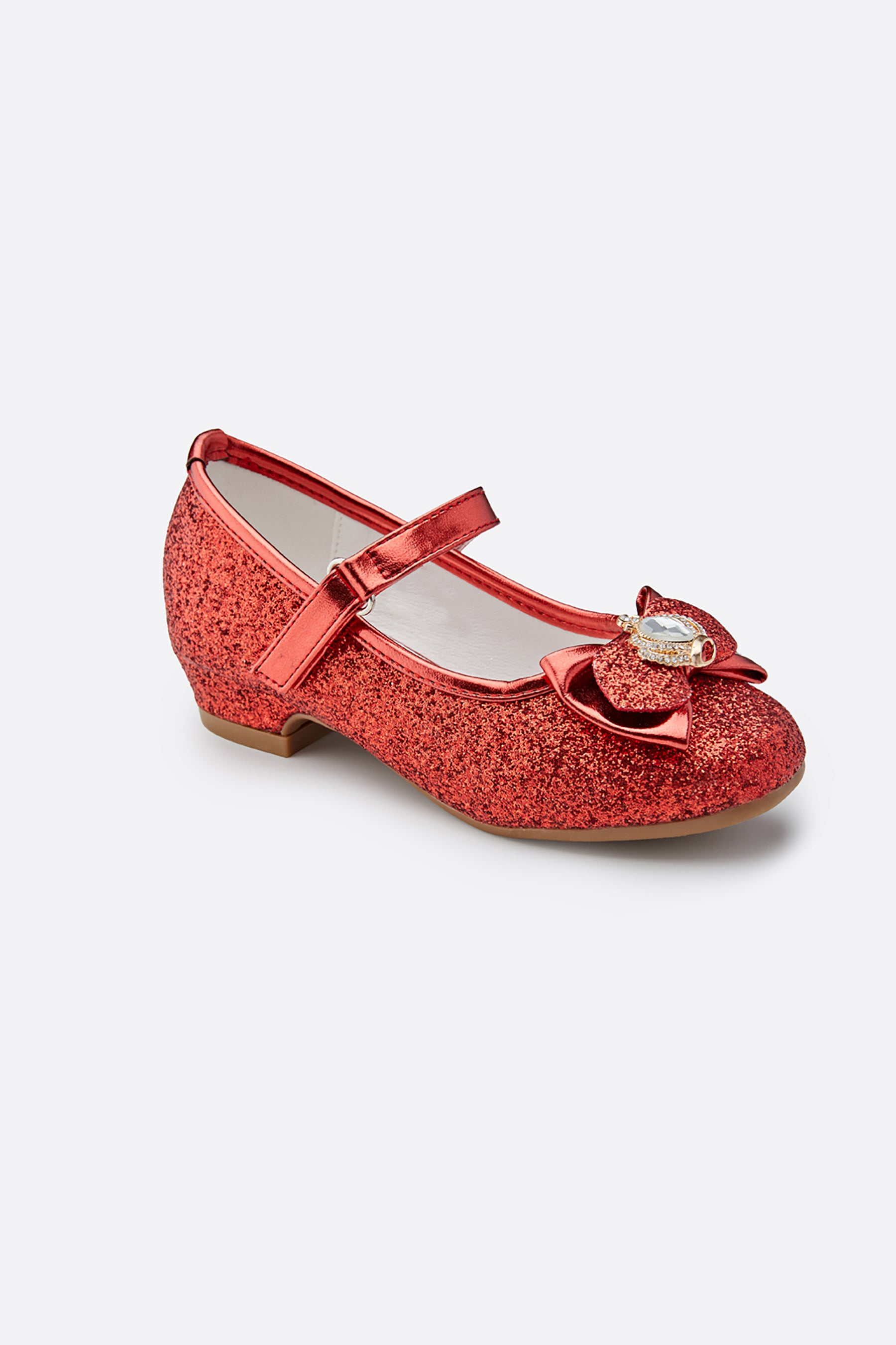 Girls Crown Glitter Mary Jane Dress Shoes