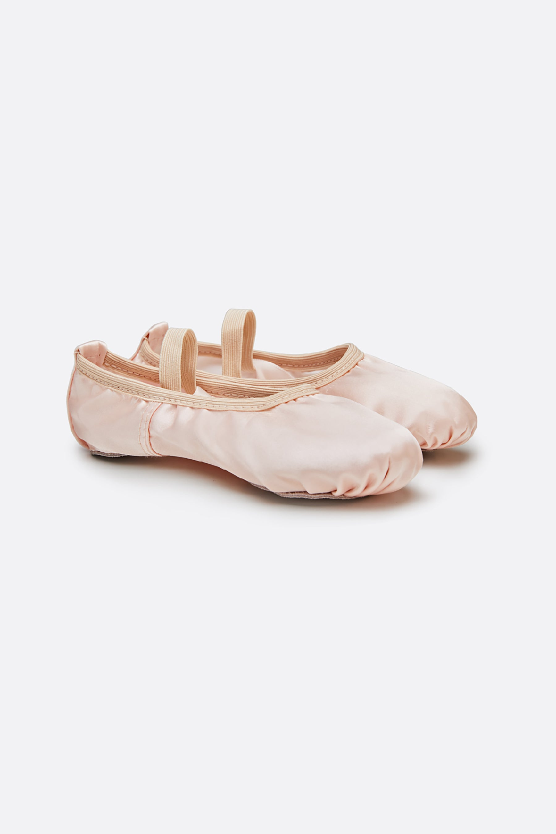 Girl's Satin Ballet Shoes with Ribbon