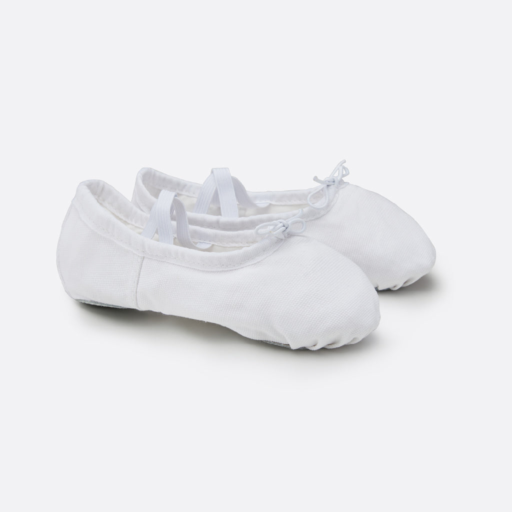 StelleCanvasBalletShoesBalletWhite1