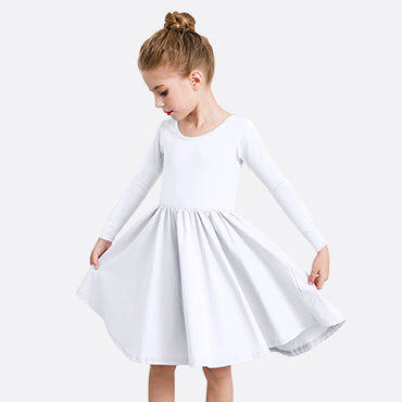Girl's Long Sleeve A-Line Twirly Dress