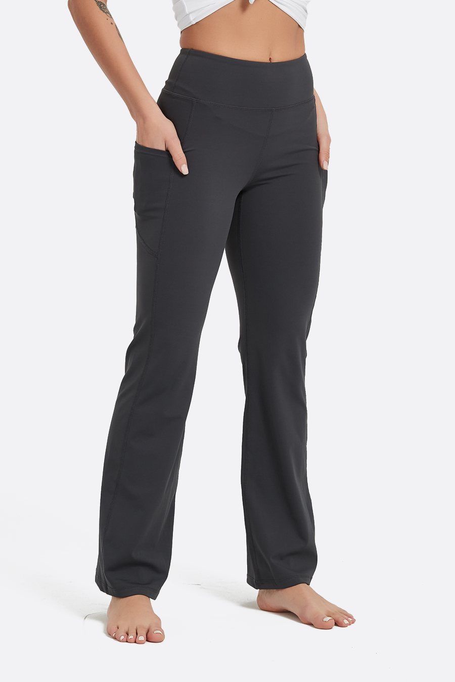 Women's Bootcut High Waisted Yoga Pants with Pockets 30""