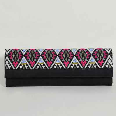 Long Clutch Wallet : Black