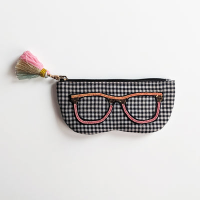 Sunglass Cover -Black and White check