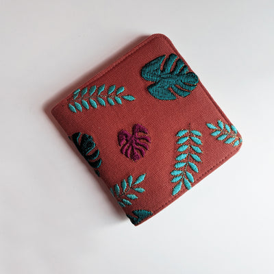 Snap Button wallet - Peach Tropical