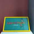 Personalized Nameplate with Sea Green Base and yellow