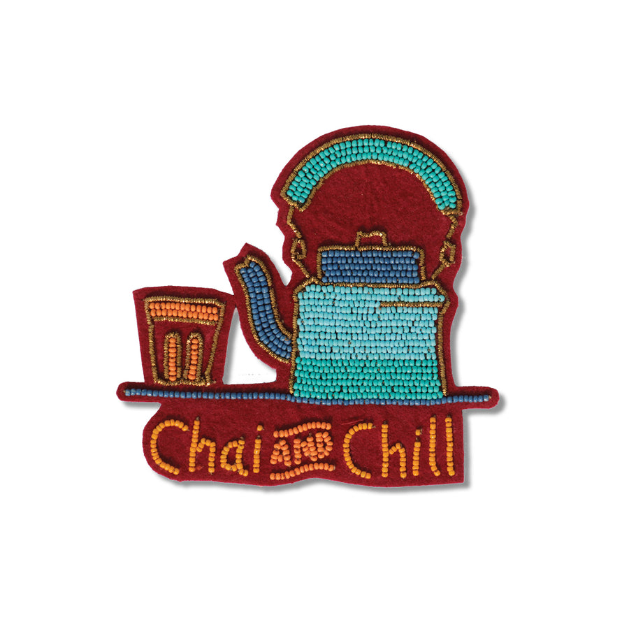 Chai and chill fridge magnet