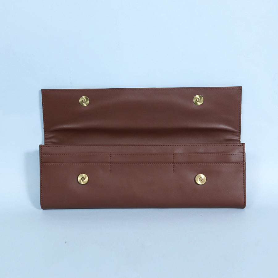 Long Clutch Wallet : Brown