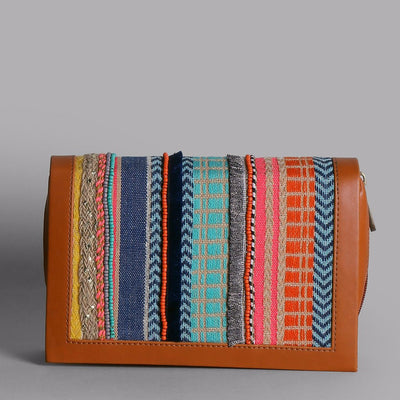 Book Striped Clutch: Multi