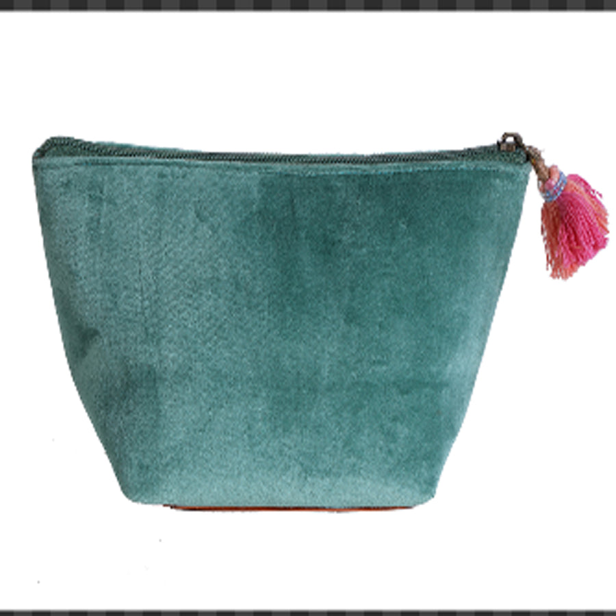 Personalized Name pouch- Green Velvet (1pc)