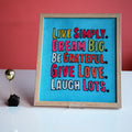 WALL ART- LIVE SIMPLY, DREAM BIG