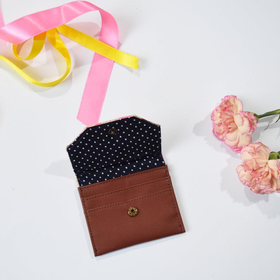 CARD WALLET- PEACH