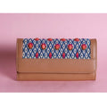 New Embroidered Hand Wallet : Beige