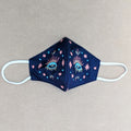 Embroidered Evil Eye Mask Blue By Desi Drama Queen