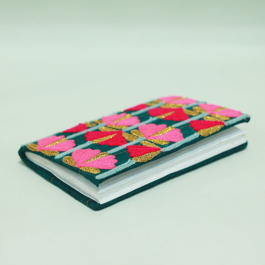 Festive Diary Pink Royal Floral- REUSABLE DIARY COVER