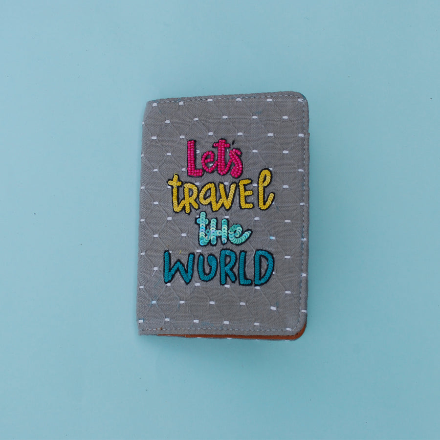 let's travel the world passport cover