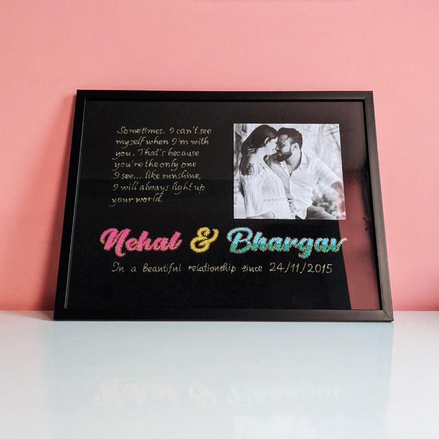 Personalized Nameplate with picture (black)