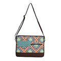 Orange and Blue Geometric Patterned Laptop Bags