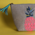 Handmade gifts , handcrafted bags , embroidered pouches, handcraftedbags, make up kits , quirky pouches , cute pouches , cutebags , handmade bags , love , embroidered , silver , pineapple pouch , cute printed pouch