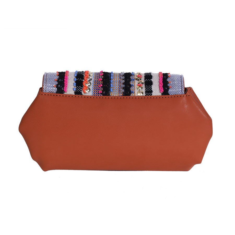 Pleated wallet - Multi colour festive