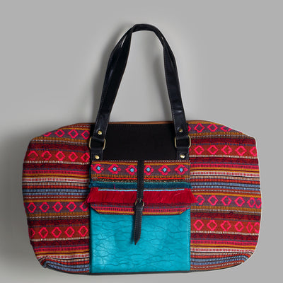 Boho Travel Bag: Tan