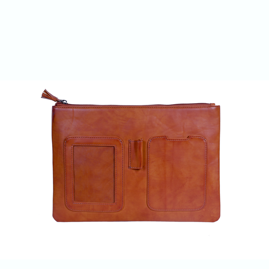 Unisex Ipad cover Tan