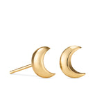 Dream Earrings • 14 Karat Gold Crescent Moon Stud Earrings
