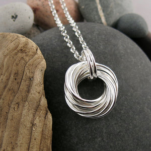 Boundless Love Knot Necklace: artisan made sterling silver infinite knot necklace by Mikel Grant Jewellery