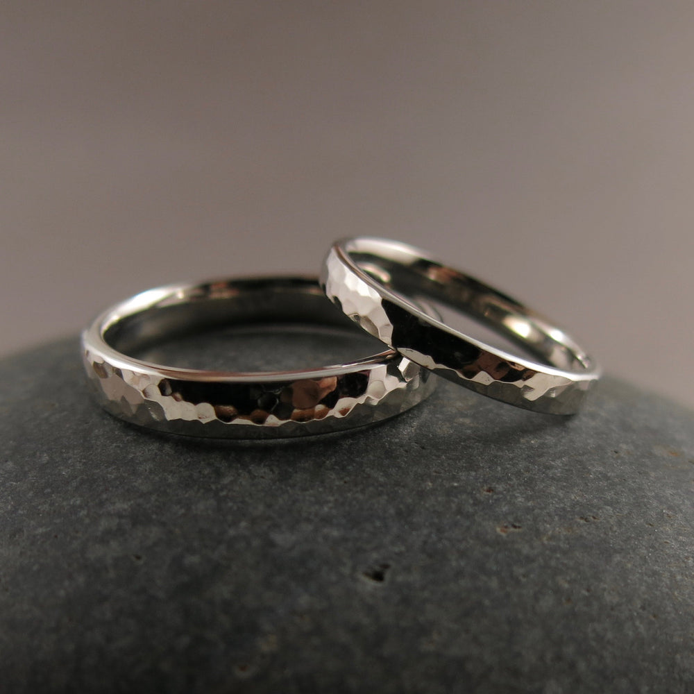 Custom Made Wedding Rings • 14K Palladium White Gold