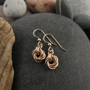 Algerian love knot earrings in 14K gold fill by Mikel Grant Jewellery.  Artisan made.