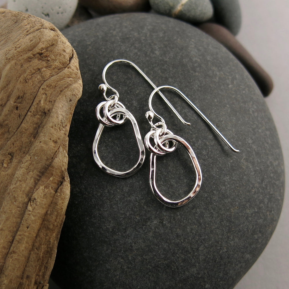 Small Coast Earrings • Hammer Textured Sterling Silver