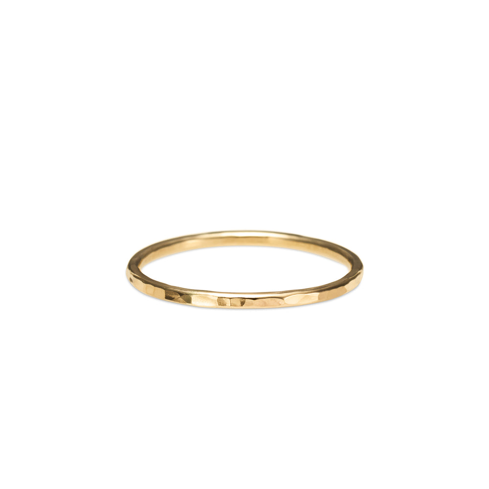 Hammer Textured Stacking Ring • 14 Karat Gold Filled