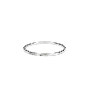 Hammer Textured Stacking Ring • Sterling Silver