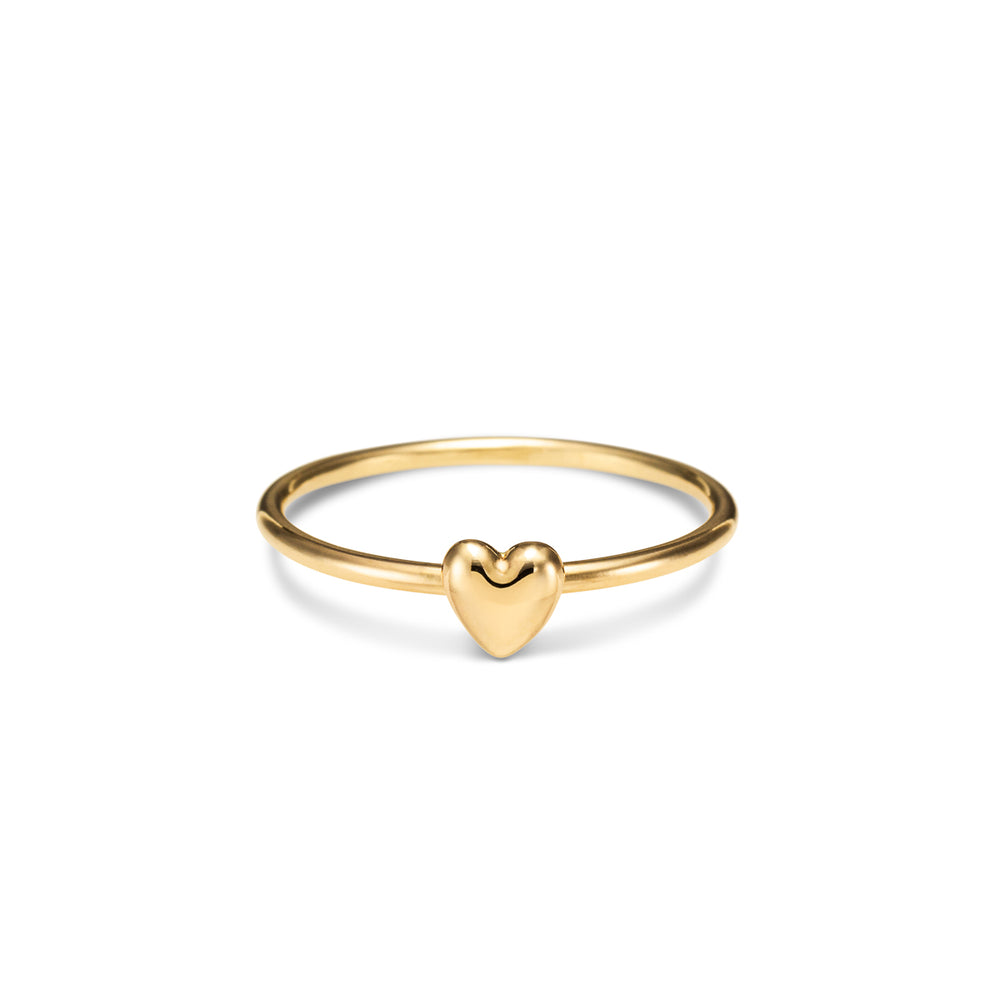 Sweethearts Stacking Ring • Solid 14K Gold