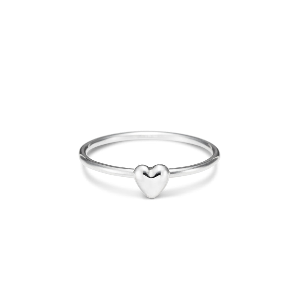 Sterling Silver Sweethearts Stacking Ring