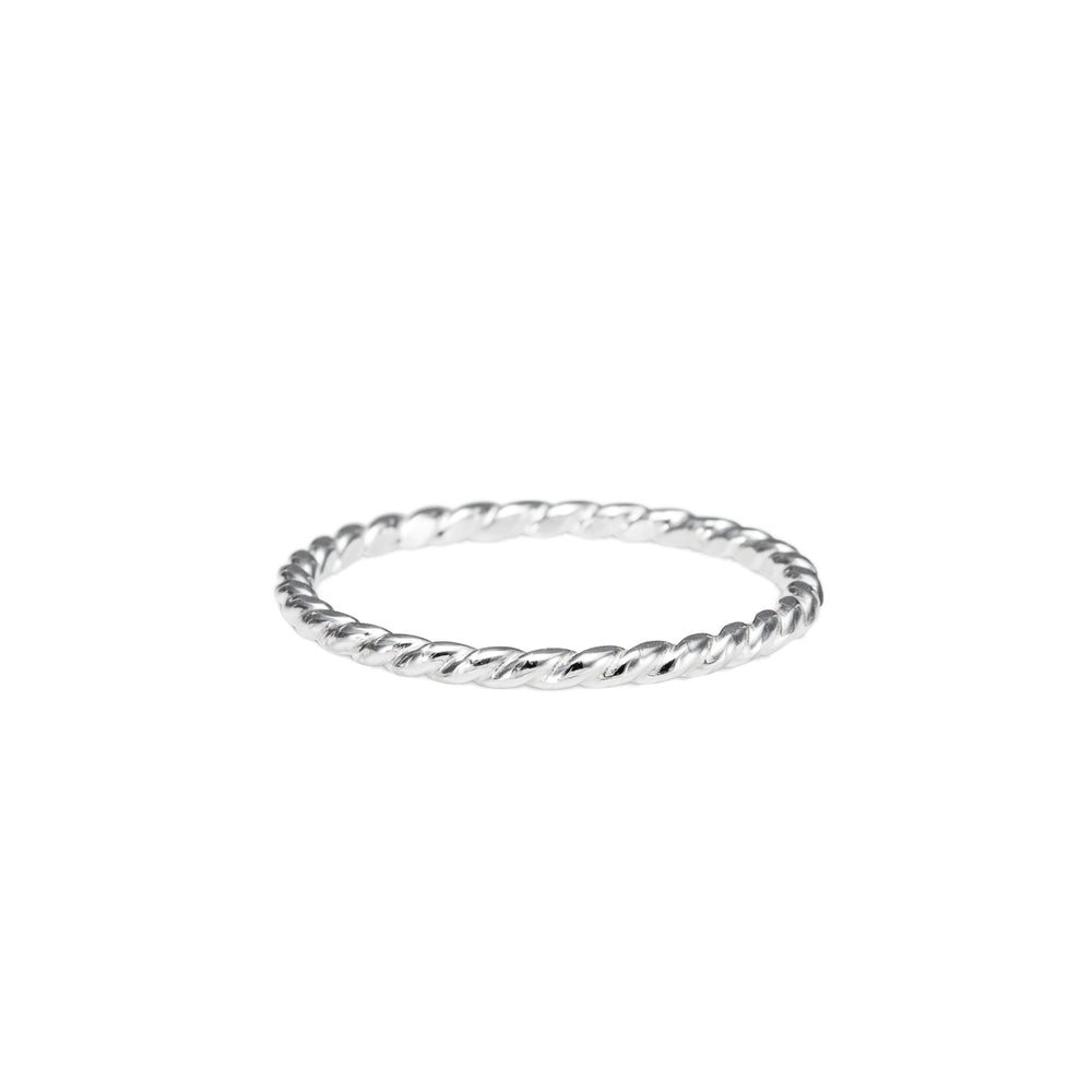Twisted Sterling Silver Stacking Ring