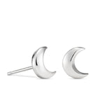 Dream Earrings • Sterling Silver Crescent Moon Stud Earrings
