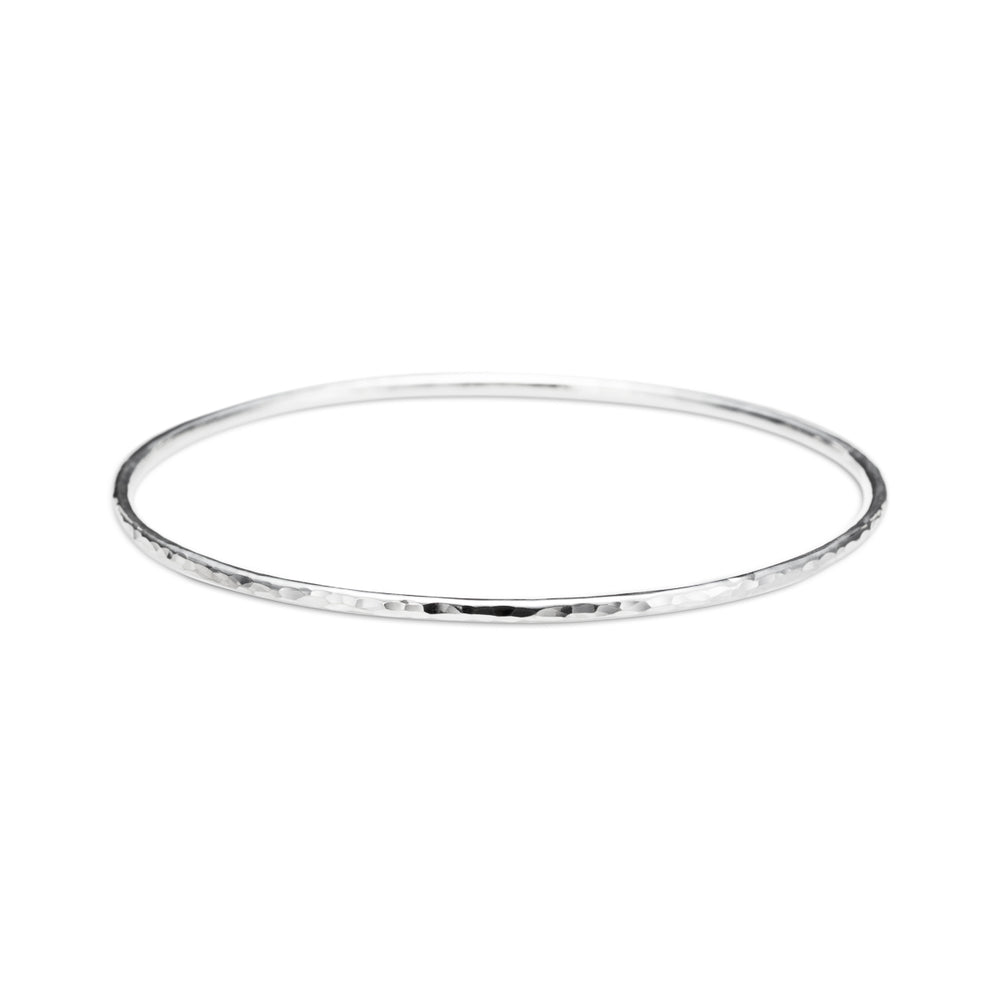 Hammer Textured Bangle • Sterling Silver