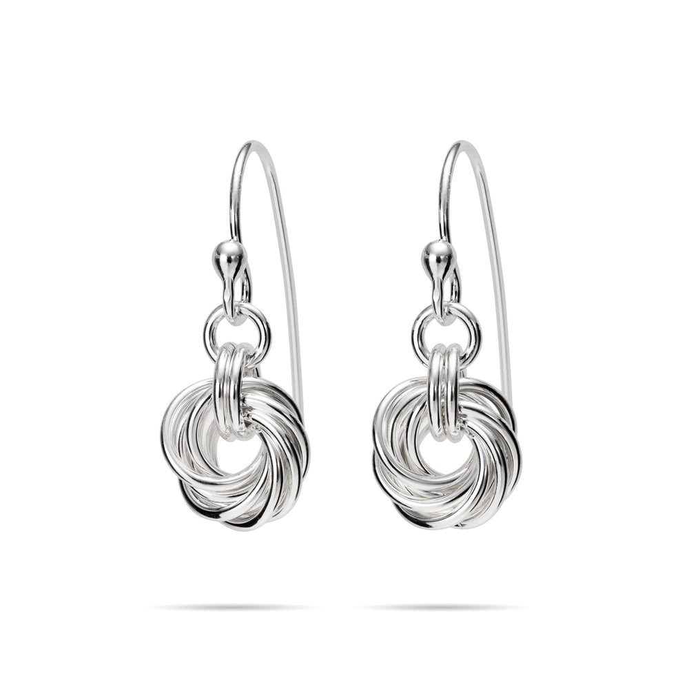 Sterling Silver Love Knot Earrings