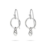 Sweethearts Circle Drop Earrings • Sterling Silver