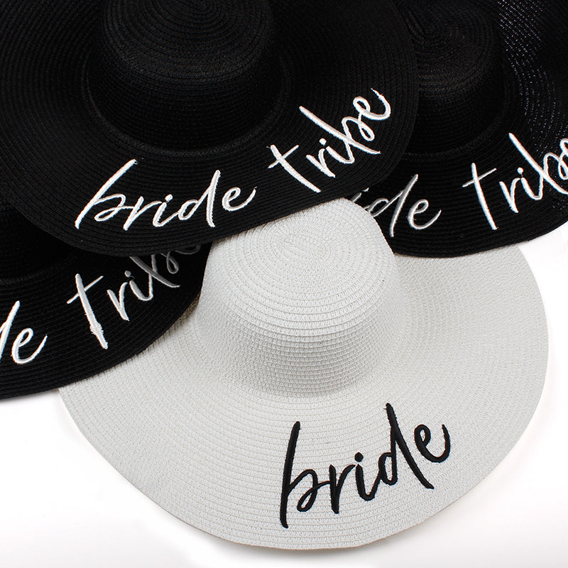 Bride Tribe beach wedding floppy Sun Hats bridal party gifts favors - Thick  Chick Treasures f05011d5e14