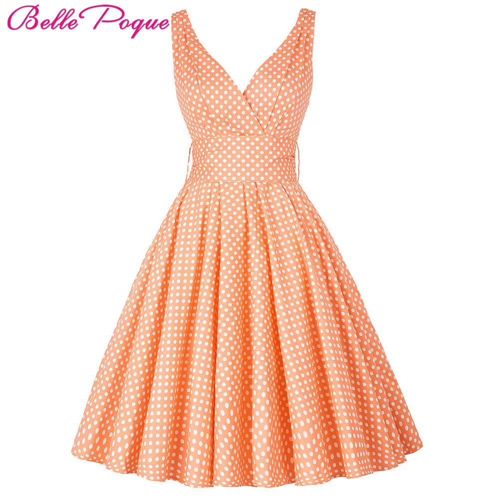 e4de66036a8 Vintage Retro Pin-Up Swing Polka Dot Tea Rockabilly Dress  (XS-XL ...