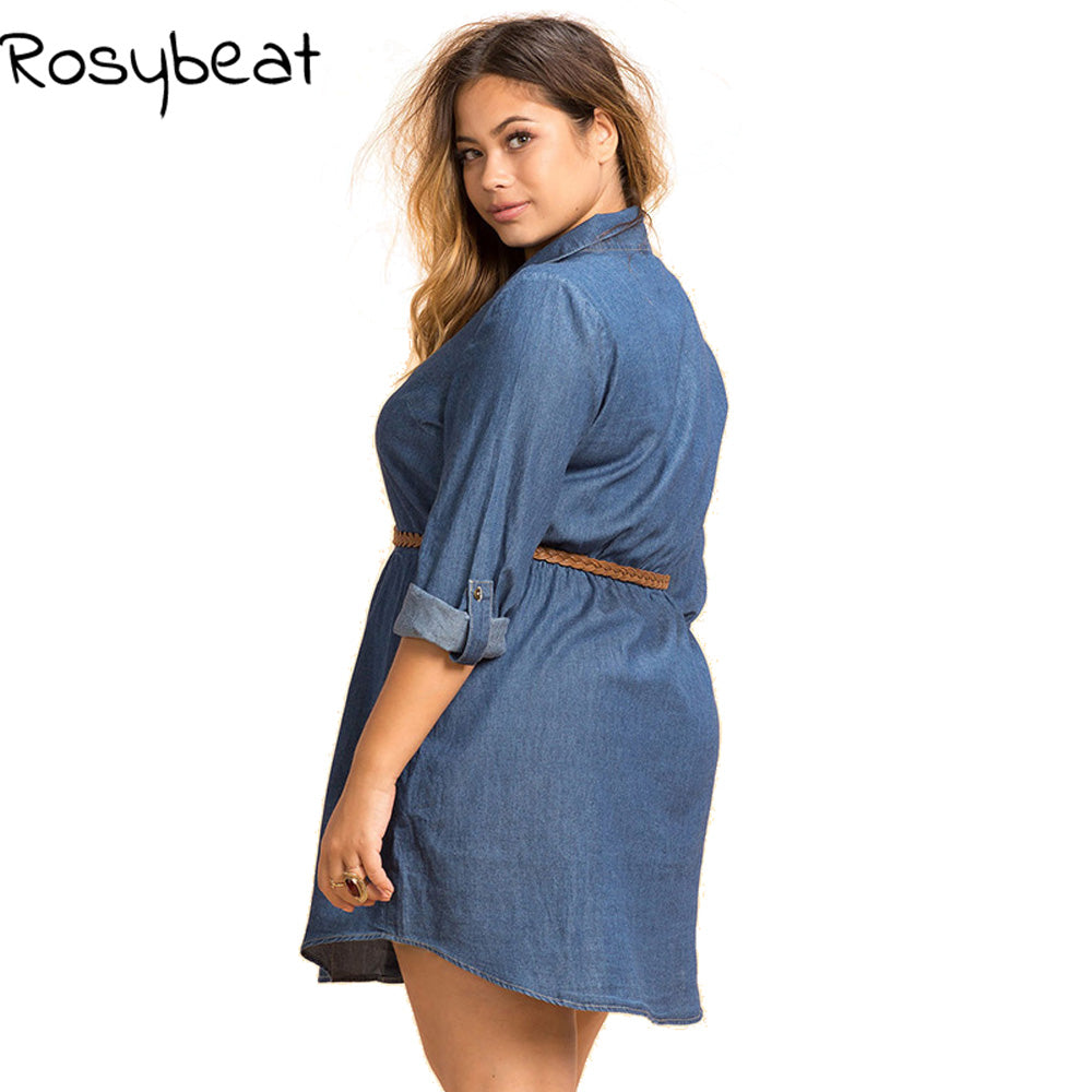 Rosybeat Long Sleeve Loose Shirt Dress Thick Chick Treasures