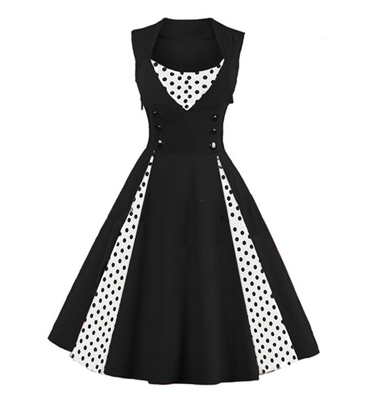 0d07db927d3 Vintage Swing Rockabilly Retro Floral Pin-up Dress  (S-5XL) – Thick ...