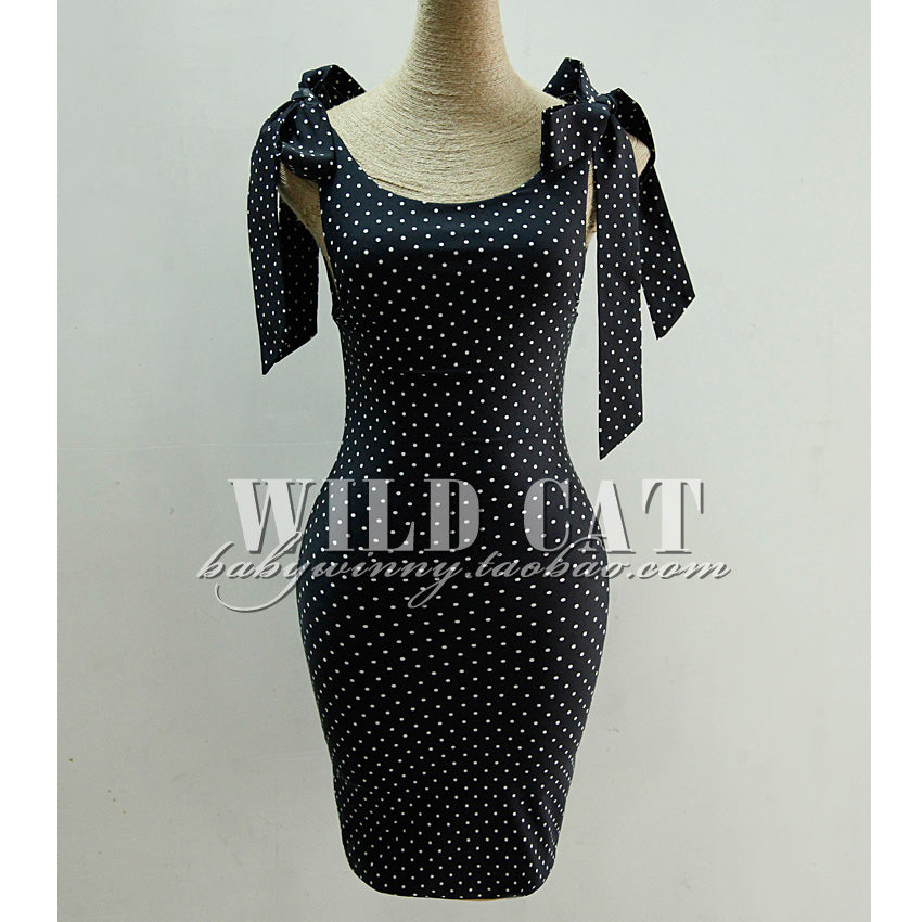 Limited Edition Vintage Classic Black And White Polka Dot Pinup