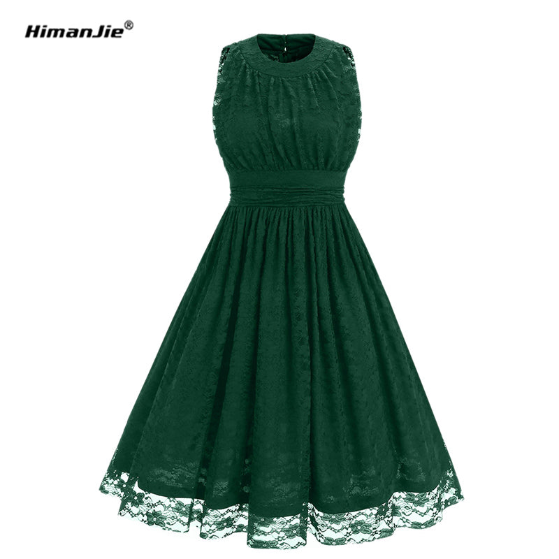 97d721f6671 O neck Floral Lace Vintage Retro Rockabilly Swing slim waist pin up Dresses  - Thick Chick
