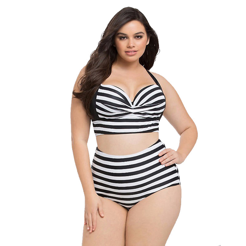 cb5e22ce2a 2-Piece High Waist Geometric Print Bathing Suits - Thick Chick Treasures